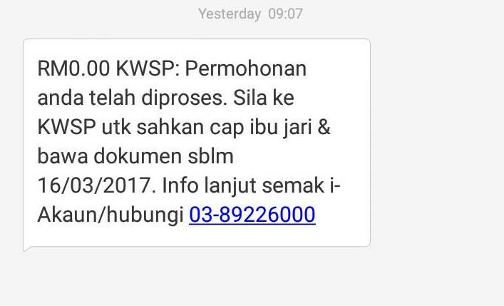 Pengeluaran akaun 2 kwsp