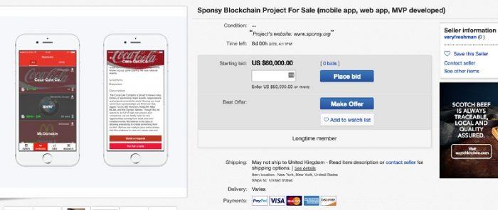 Dari Initial Coin Offering (ICO), Kini Sponsy Melancarkan Auction Di Ebay Sahaja 2