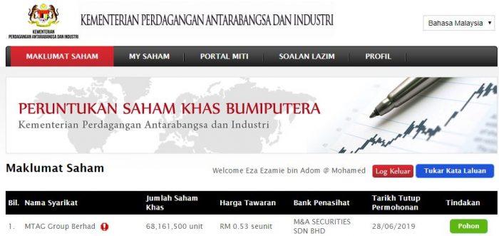 Saham MTAG Group Boleh Dipohon di MITI Pada Harga RM0.53 Seunit 6