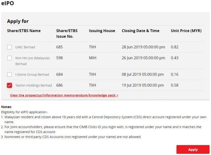 IPO Tashin Holdings Baru Dibuka, Boleh Beli Online Pada Harga RM0.58 Seunit 9