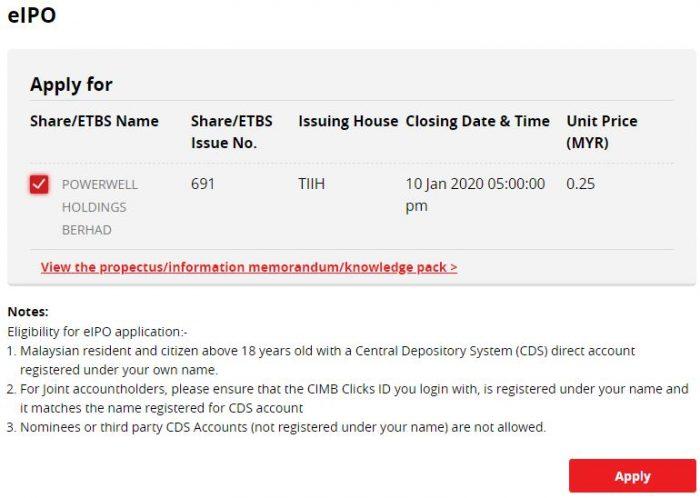 IPO Powerwell Holdings Berhad Dah Boleh Apply Online, IPO Pertama Tahun 2020 8